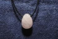 Rose Quartz Gemstone Pendant with Leather Strap 2 x 2.8 cm