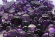 Amethyst cabochons cut about 14 mm