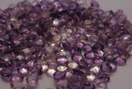 Amethyst heart-shaped faceted 7mm