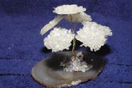 Gem Tree on rock crystal agate plate