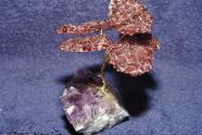 Gemstone garnet tree plate on Amethyst