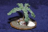 Aventurine gemstone tree palm tree on agate plate
