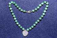 Gemstone necklace from malachite