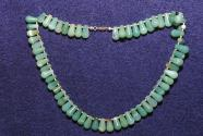 Gemstone necklace of green agate