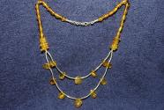 Gemstone necklace with amber